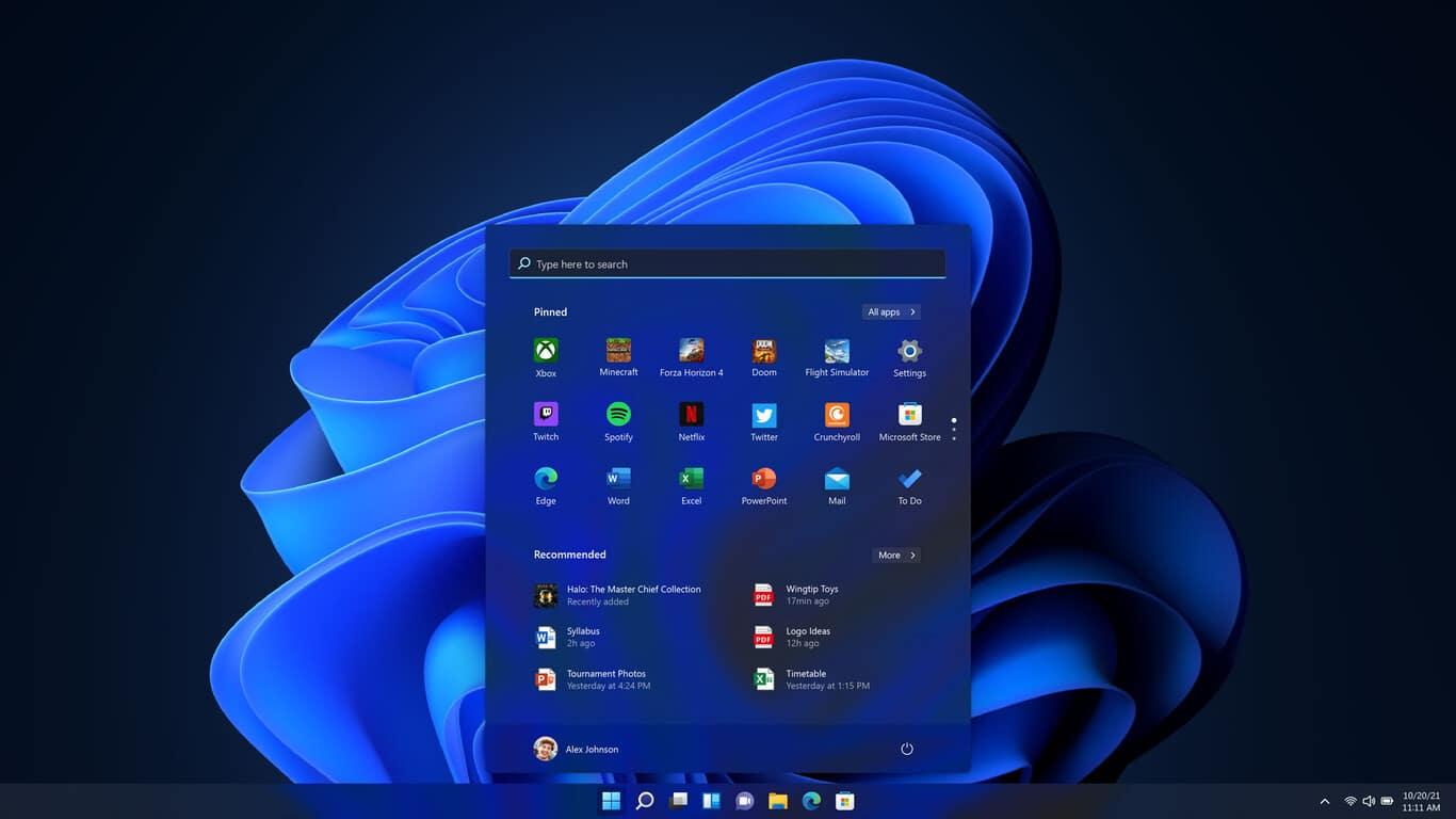 Apariencia del nuevo Windows 11